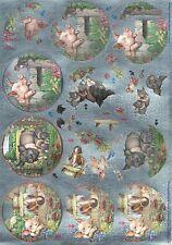 Dufex - 3D Decoupage - Die Cut - Pigs - Cute