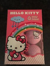 """Hello Kitty """"The Collection"""" Golf Balls - 6 ball pack BALL PINK ANNIVERSARY"""