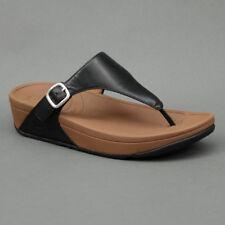 FitFlop TM Fitflop Flip-Flops Leather The Skinny™ Black Mod. Ski-Blk