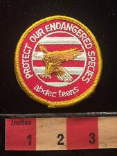 Bald Eagle Patch PROTECT OUR ENDANGERED SPECIES ~ Abdec Teens 60ZZ