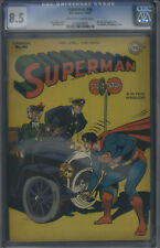 D.C. Comics Superman #46 CGC 8.5 Off-White to White Pages