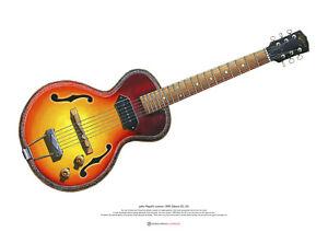 John Mayall's Gibson ES-125 ART POSTER A2 size