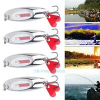 Lot 4pcs Metal VIB Fishing Lures Bass Spoon Crank Bait Saltwater Tackle Hooks