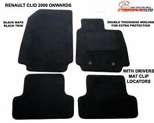 Fully Tailored Black Car Mats FOR A Renault Clio 2009 TO 2012