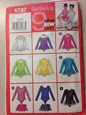 Butterick Ice Skating Dress Pattern #6787 7,8,10 New