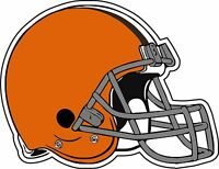 "Cleveland Brownes NFL Football car bumper sticker, decal 5""x 4"""