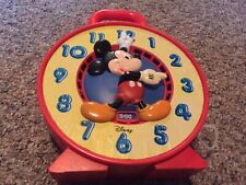 Disney Mickey Mouse Talking Time Clock Pull String See N Say Mattel vintage 1981