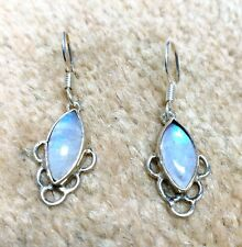 Simple And Beautiful Earring Moonstone In 925 Silver Stylish Earring Moonstone