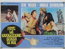 FATE LA RIVOLUZIONE SENZA DI NOI commedia di Yorkin con Wilder fotobusta 1975