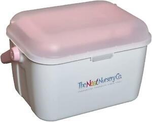 Neat Nursery Company Baby BOX ORGANISER WHITE/PINK Baby Changing Nappies 0m+ BN