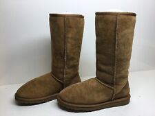 *1 WOMENS UGG AUSTRALIA WINTER SUEDE LIGHT BROWN BOOTS SIZE 6