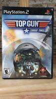 Top Gun: Combat Zones (Sony PlayStation 2, 2001) PS2 Black Label Complete