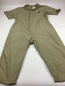 Dickies Workwear Mens 2XLSH Beige Short Sleeve Coveralls Work Jumpsuit