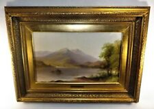 Painting Alfred George Coleman Oil on Board Framed w/ Plaque Listed Landscape