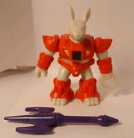 Battle Beasts Series 3 #67 Ardent Aardvark W Weapon and Rub (Fire)