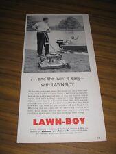 1956 Print Ad Lawn Boy Lawn Mowers Johnson Outboard Motor Lady in Boat