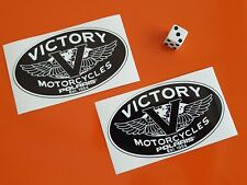 VICTORY POLARIS Motorcycle Stickers x 2 Vintage Decals X 2 100MM X 60MM