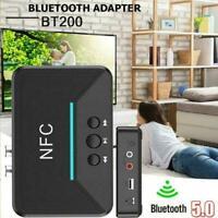 Hot Bluetooth 5.0 Receiver RCA aptX LL NFC 3.5mm Jack Aux Adapter neu Audio I1X1