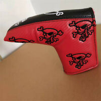 New Red&Black Skull Golf Putter Cover Blade Headcover For Taylormade Scotty Ping
