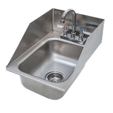 "Advance Tabco DI-1-10SP 10"" Drop In Bar Hand Sink With Deep Drawn Sink Bowl"