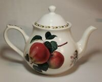 "VINTAGE Queen's Fine Bone China Hookers Fruit APPLE Teapot 7"" MINT"