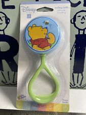 Rare Vintage Winnie the Pooh Bear First Years Plastic Baby Rattle Toy  Sealed !!