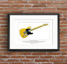 Keith Richards' Fender Telecaster Micawber Ltd Edition Fine Art Print A3 size