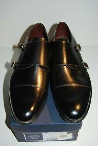 New Charles Tyrwhitt Black Calf Monk Style Shoes Sz 12G