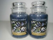 YANKEE CANDLE BLUEBERRY Large Jar Candle 22 oz  Returning Favorite 2 Candles
