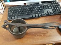 Vintage silver and Company New York strainer potato ricer