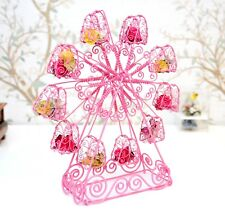 """13"""" Handmade One of a kind Ferris Wheel Pink Carousel Woven from Japanese wire"""