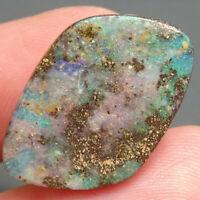 Boulder Opal Australian Natural OPAL 12.26 ct SOLID OPAL gemstone - SEE VIDEO