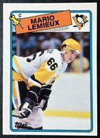 1988-89 Topps #1 Mario Lemieux - NM/Mint - Pittsburgh Penguins