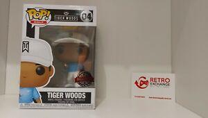 Funko Pop! Golf 04 - Tiger Woods (Blue Shirt) New + Fast Despatch