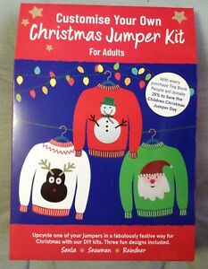 Christmas DIY jumper kit. Convert adult jumper set. BNIP