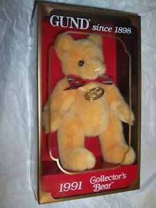 """Vintage Gund 1991 Limited Edition Collector's Bear Yellow-Gold 9"""" Beautiful!!"""