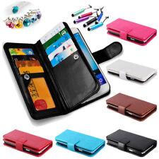 2018 Popular Photo Frame Holder PU Leather Flip Cover 9 Card Slots Wallet Case