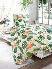 Schöne Bettwäsche aus Baumwolle/ Polyester FLAMINGO weiß-grün 135x200 + 80x80