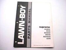 Lawn-Boy Supreme 8240, 8290 Mower Parts Manual 1982