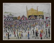 Original Impressionist Oil Painting by John Goodlad Northern Art FAIRGROUND 2