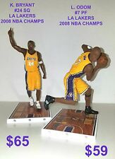 Custom L. Odom #7 F LA Lakers 2009 NBA CHAMPS Mcfarlane figure