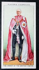 Order Of The British Empire       Vintage Card   VGC