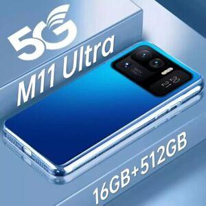 "2021 Blue Version 7.0""  M 11 Ultra Smart Phone 32MP+64MP 16+512GB 10Core 7200mAh"