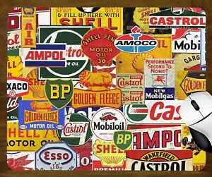 MOUSE PAD 190mm X 230mm - VINTAGE PETROL & OIL SIGNS