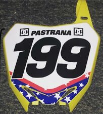 Travis Pastrana #199 Nitro Circus Stars Replica Front Number Plate Unsigned