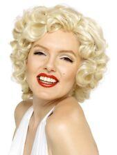 Marilyn Monroe Perruque Blonde Court Tissu Dur Célébrité Déguisement Nouveau