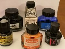 Vintage Ink bottles (x6)