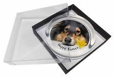'Happy Easter' Rough Collie Glass Paperweight in Gift Box Christmas, AD-RC2DA1PW