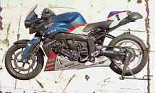 BMW K1200R PowerCup 2005 Aged Vintage SIGN A3 LARGE Retro