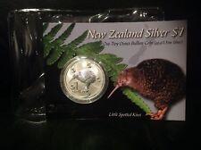 New Zealand Kiwi - 2004 - Silver $1 BU Coin- 1 OZ Kiwi !!!Scarce